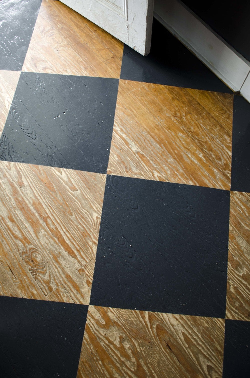 Painted checkerboard floor on Thou Swell