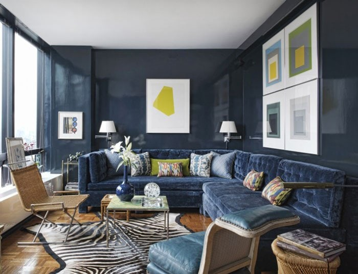 Swell Shopping Neo Trad Navy Living Room