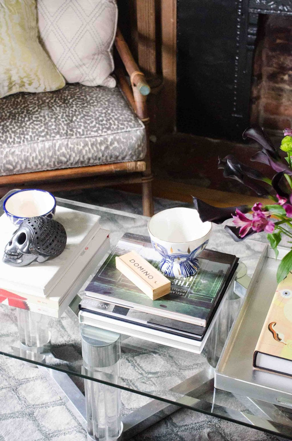 Living room coffee table details