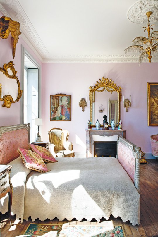 Pale Pink Period Bedroom On Thouswellblog