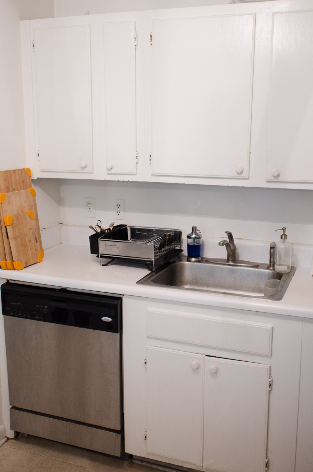 Inexpensive Rental Kitchen Makeover - Thou Swell