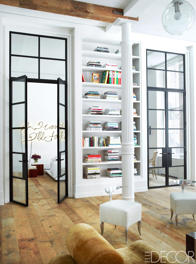 Metal and glass doors to the bedroom in a Manhattan loft via @thouswellblog : manhattan doors - pezcame.com
