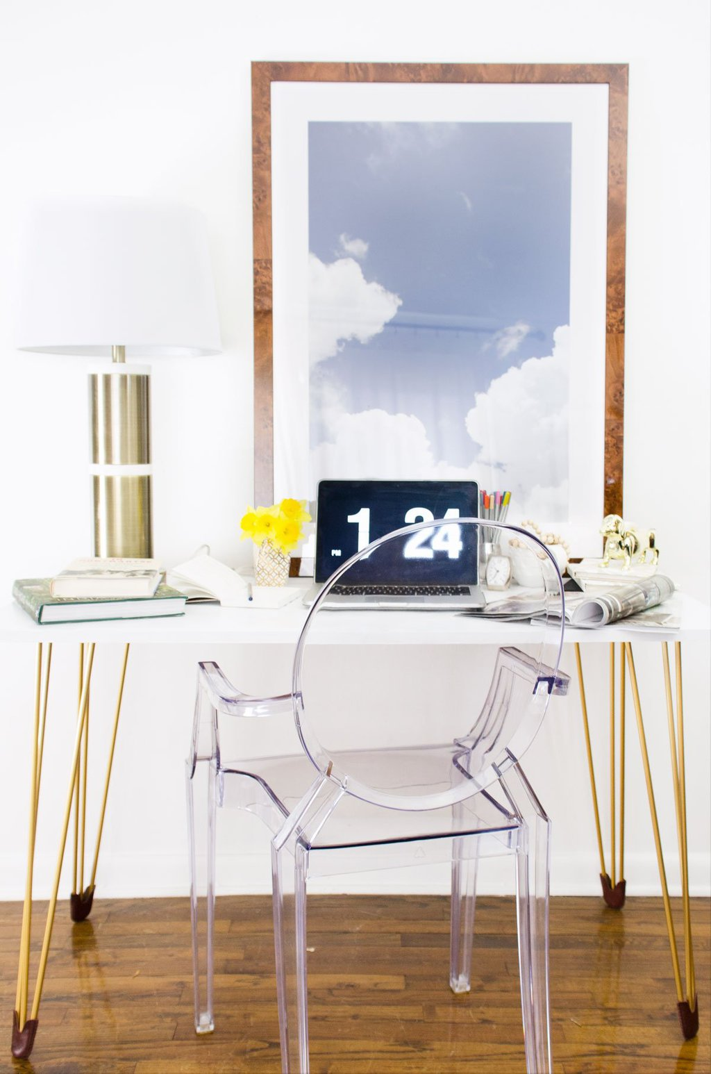 How To Make A Diy Desk With Gold Hairpin Legs From Prettypegs On Thouswellblog