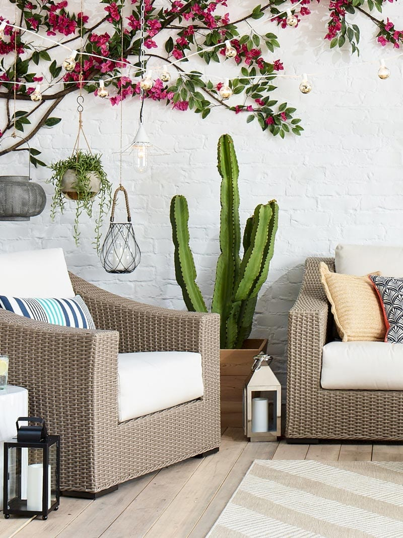 Summer patio furniture in the Threshold summer collection via @thouswellblog