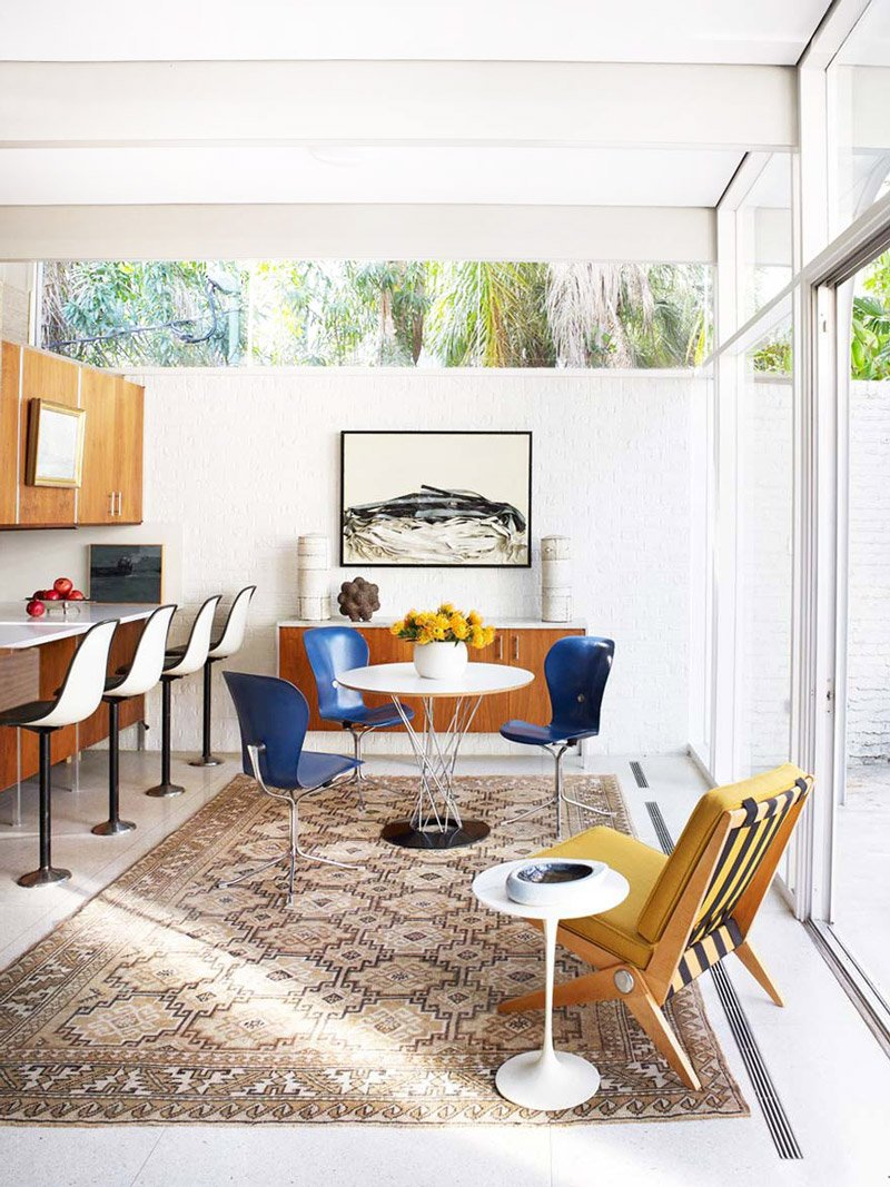 Breakfast Room In Modernist New Orleans Home Via @thouswellblog