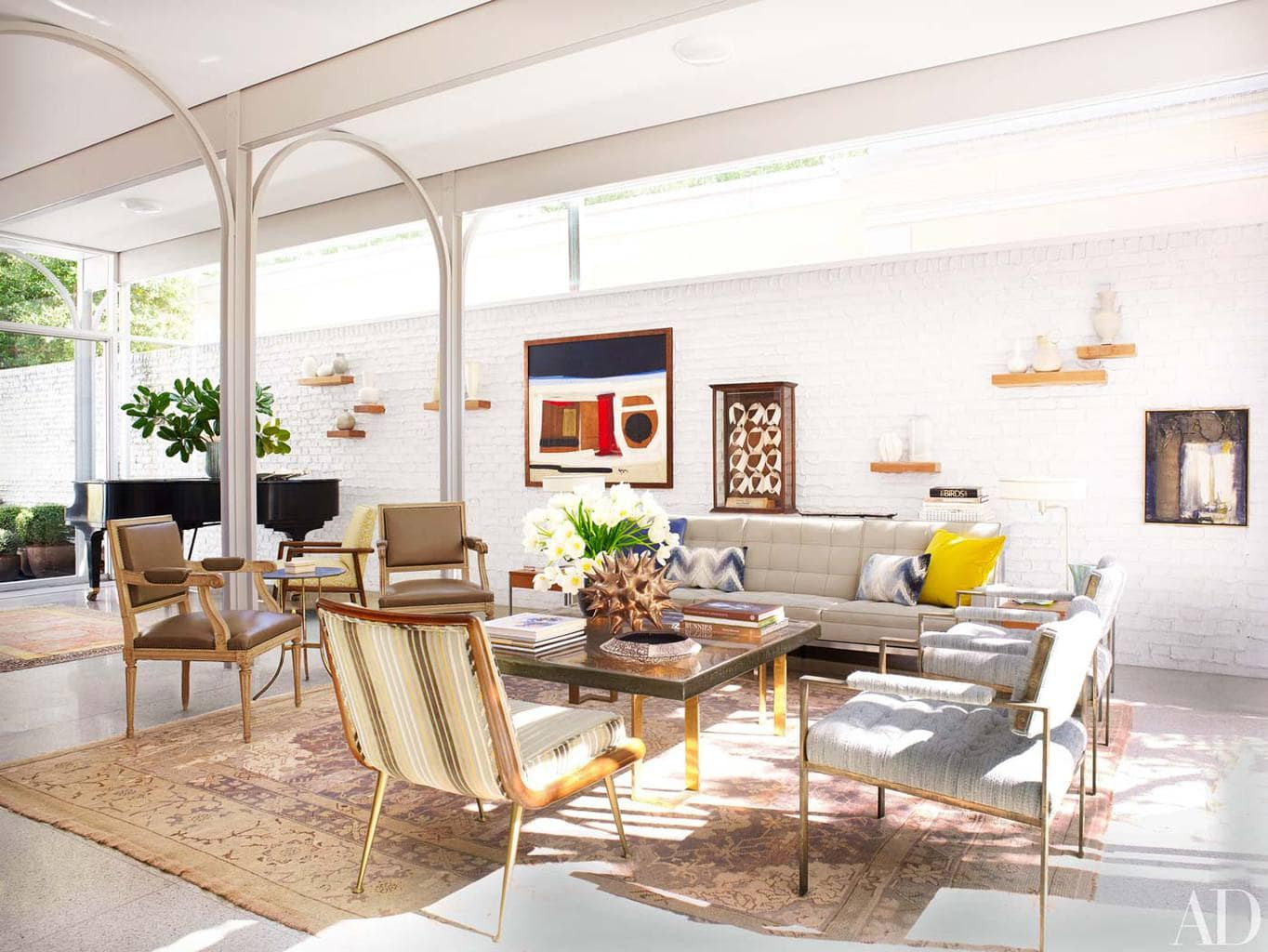 Living Room In Modernist New Orleans Home Via Thou Swell
