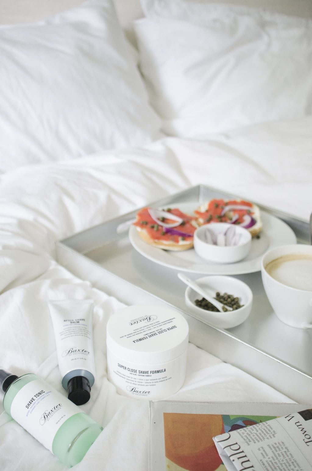 Breakfast in bed for Father's Day with Baxter on @thouswellblog