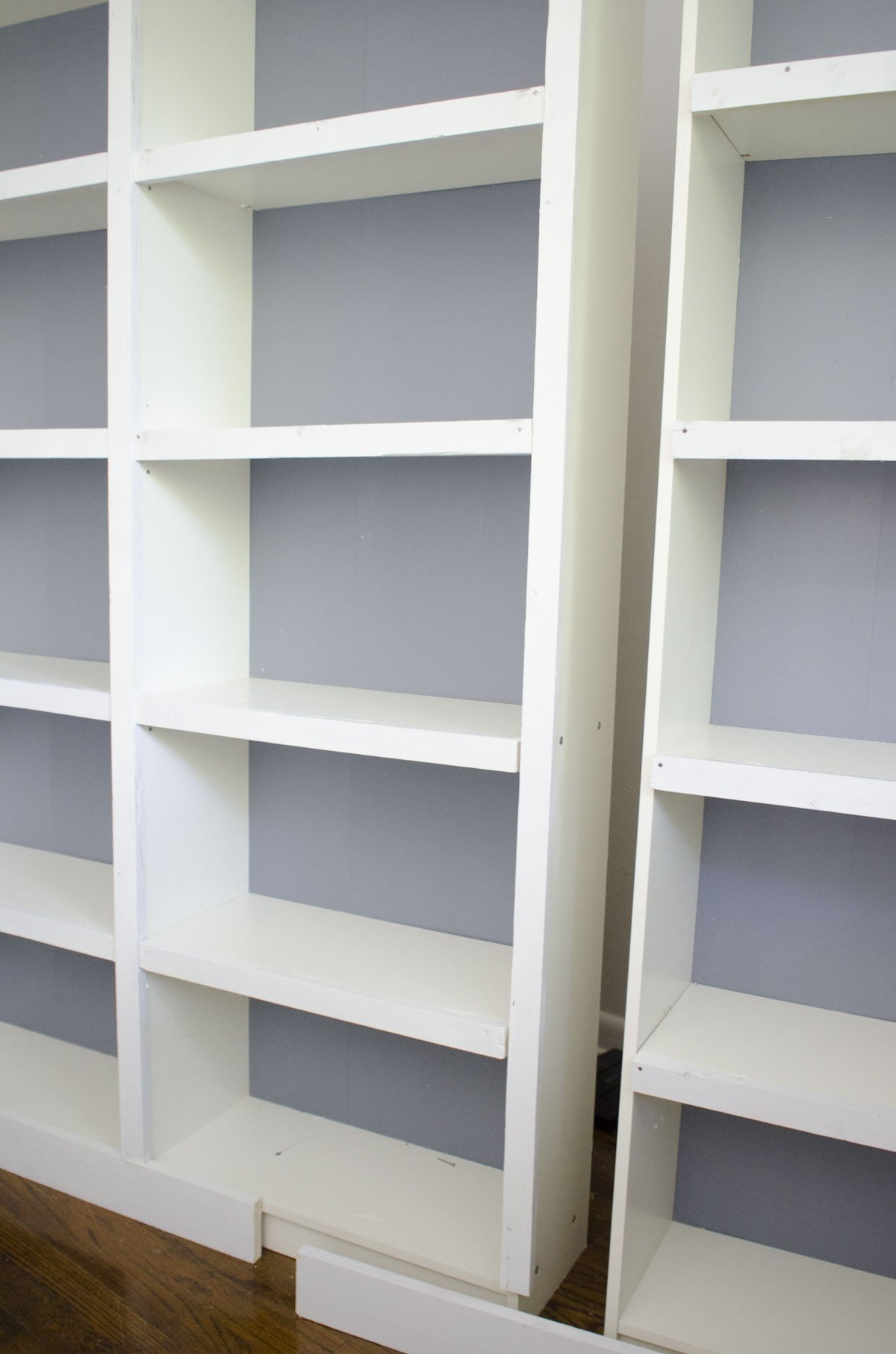 Built In Bookcases DIY Ikea Hack On Thouswellblog