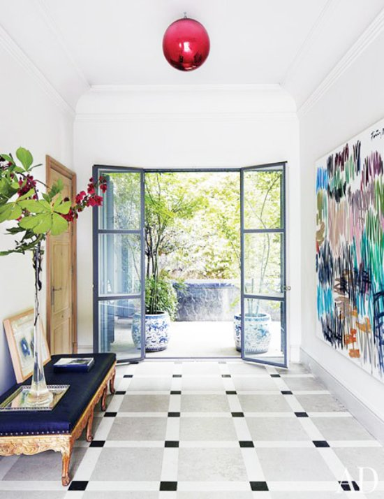 Modern entryway in the stylish home of a Spanish designer via @thouswellblog