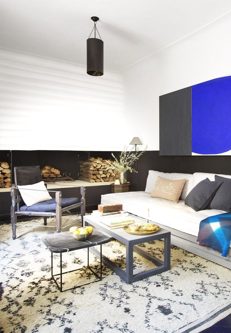 Graphic style in a Moroccan riad living room via @thouswellblog