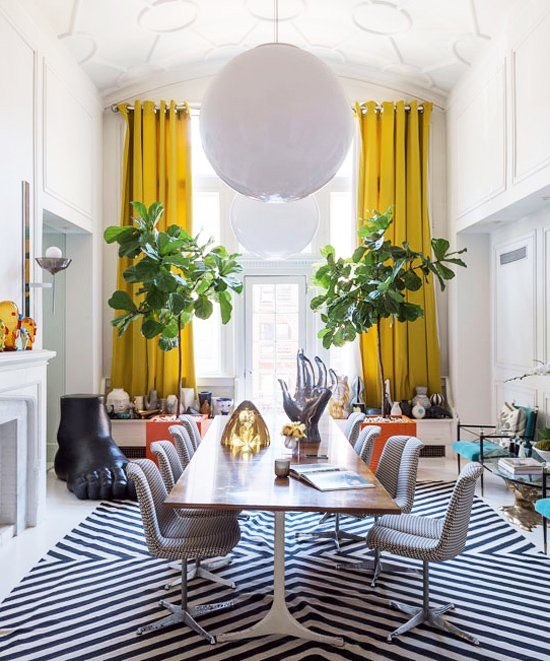 Superieur Bold Dining Room Design In Jonathan Adleru0027s NYC Apartment Via @thouswellblog