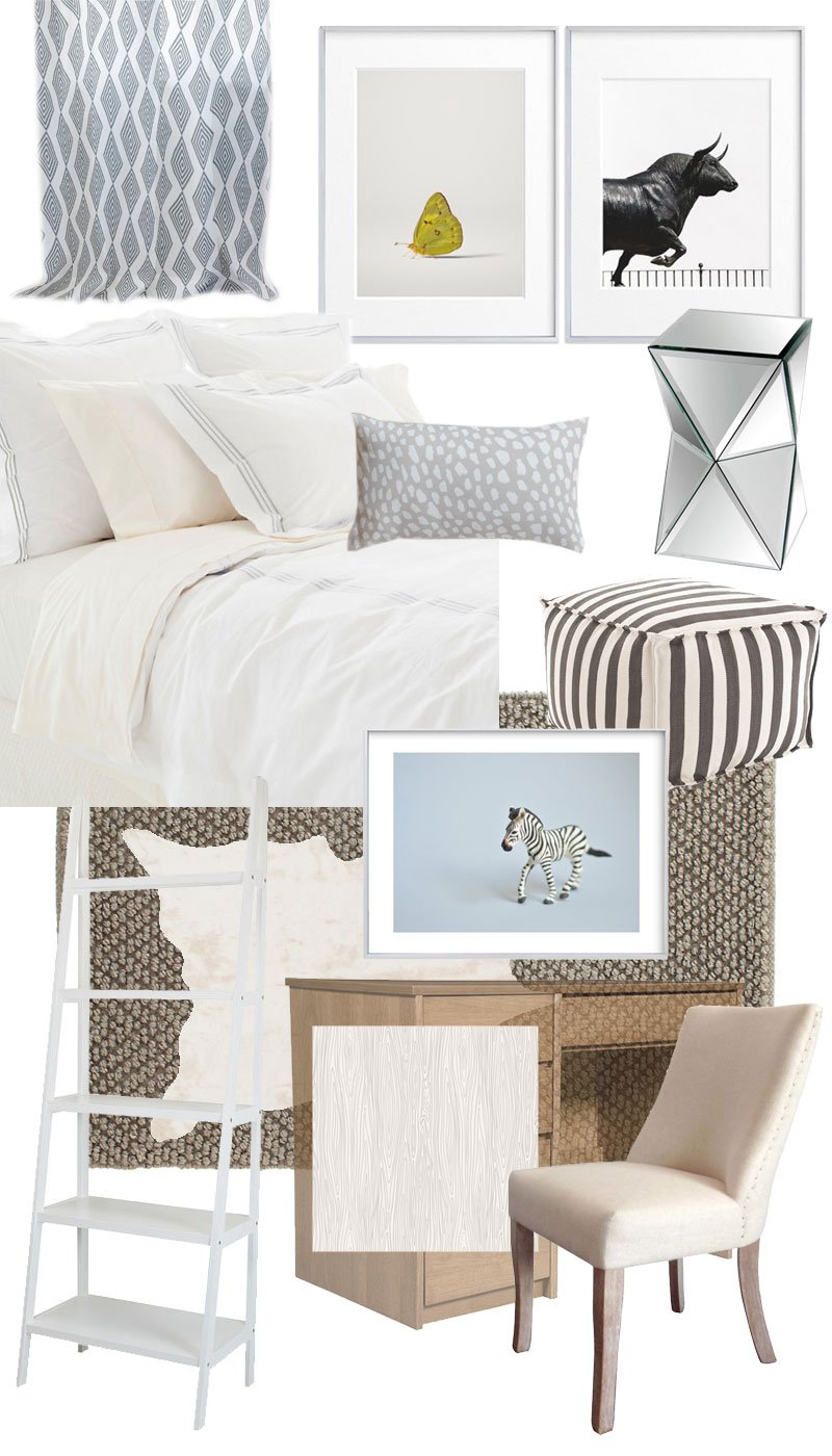 Dorm room design board via @thouswellblog