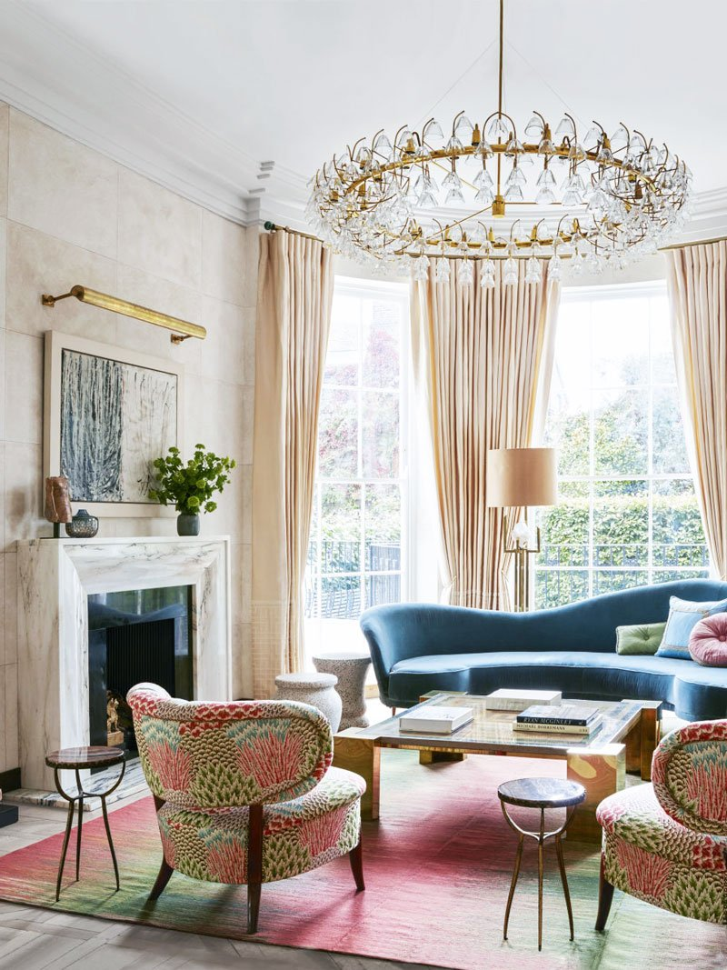 Good Art Deco Living Room With Pink Palette In London Via @thouswellblog