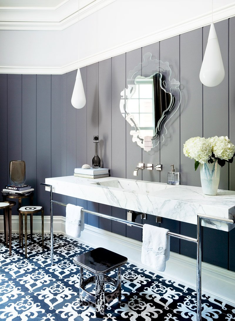 Delicieux Black And White Modern Bathroom Via @thouswellblog