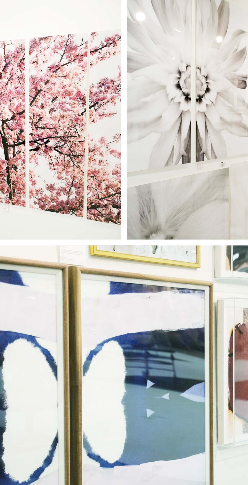 Diptych and triptych artwork decor trend from AmericasMart on Thou Swell @thouswellblog
