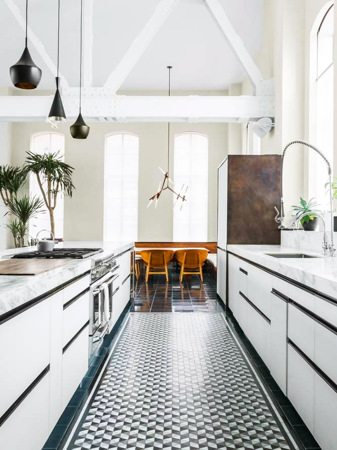 Lovely HOME DECOR TREND FORECAST FOR 2017. December 30, 2016. Decorating · Loft  Kitchen With Tiled Floor And Modern White Cabinetry On Thou Swell  @thouswellblog
