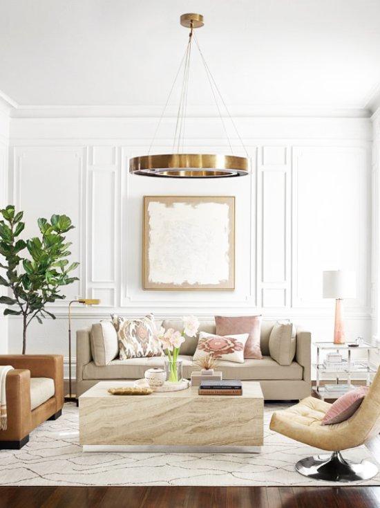 Living Room Traditional Furniture Sectional Sofas: Trending Now: Modern LED Lighting