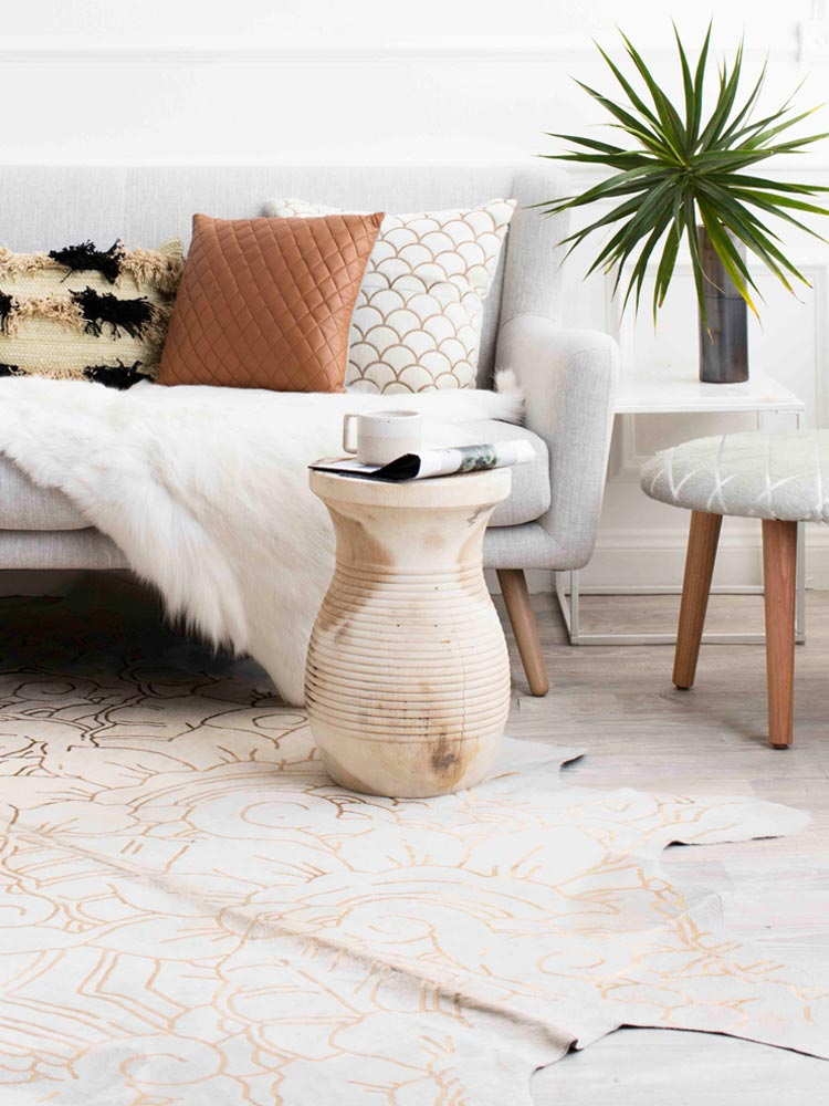 5 brilliant ways to style cowhide rugs - thou swell