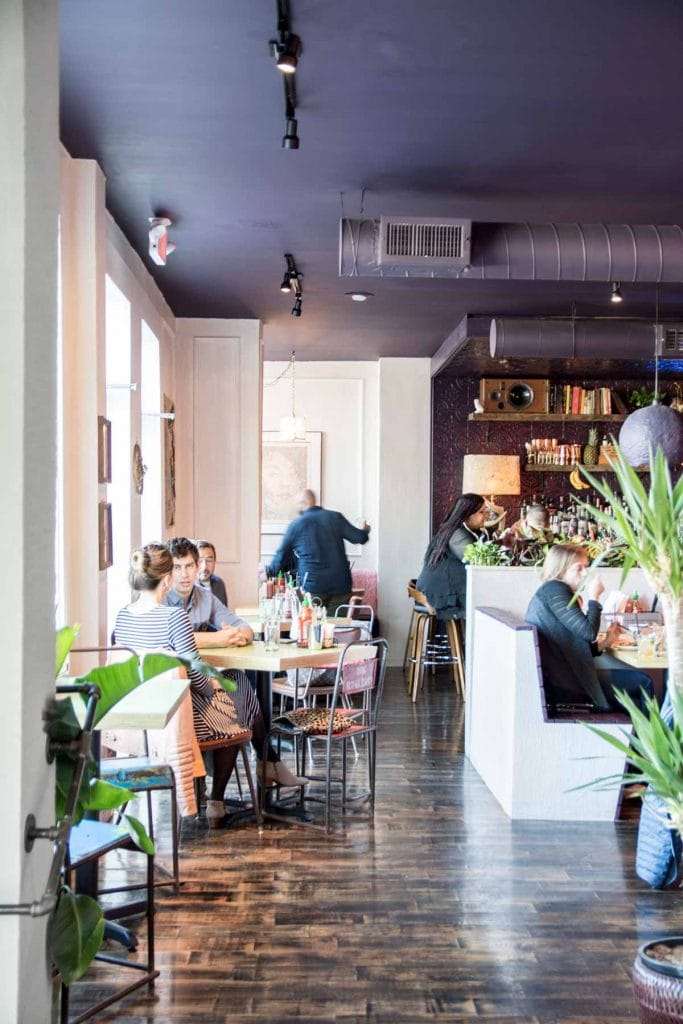 Eclectic restaurant design in Bon Ton in Atlanta on Thou Swell @thouswellblog