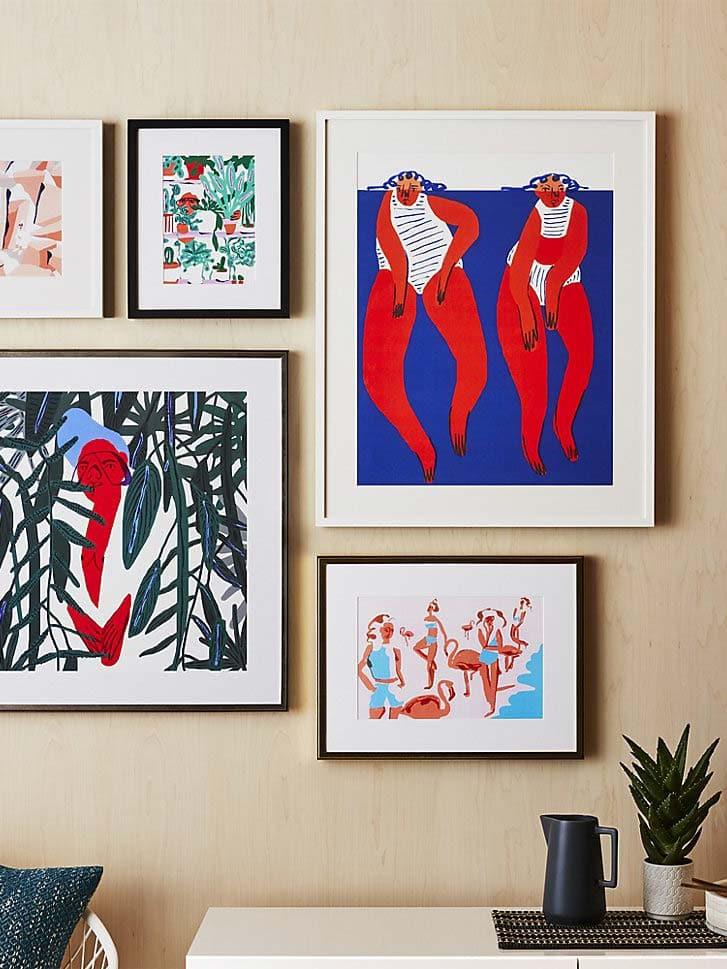 Amber Vittoria modern art print gallery wall, Framebridge for CB2 on Thou Swell @thouswellblog