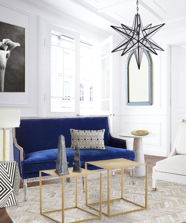 blue and gold living room a fresh blue and white living room design thou swell 18484