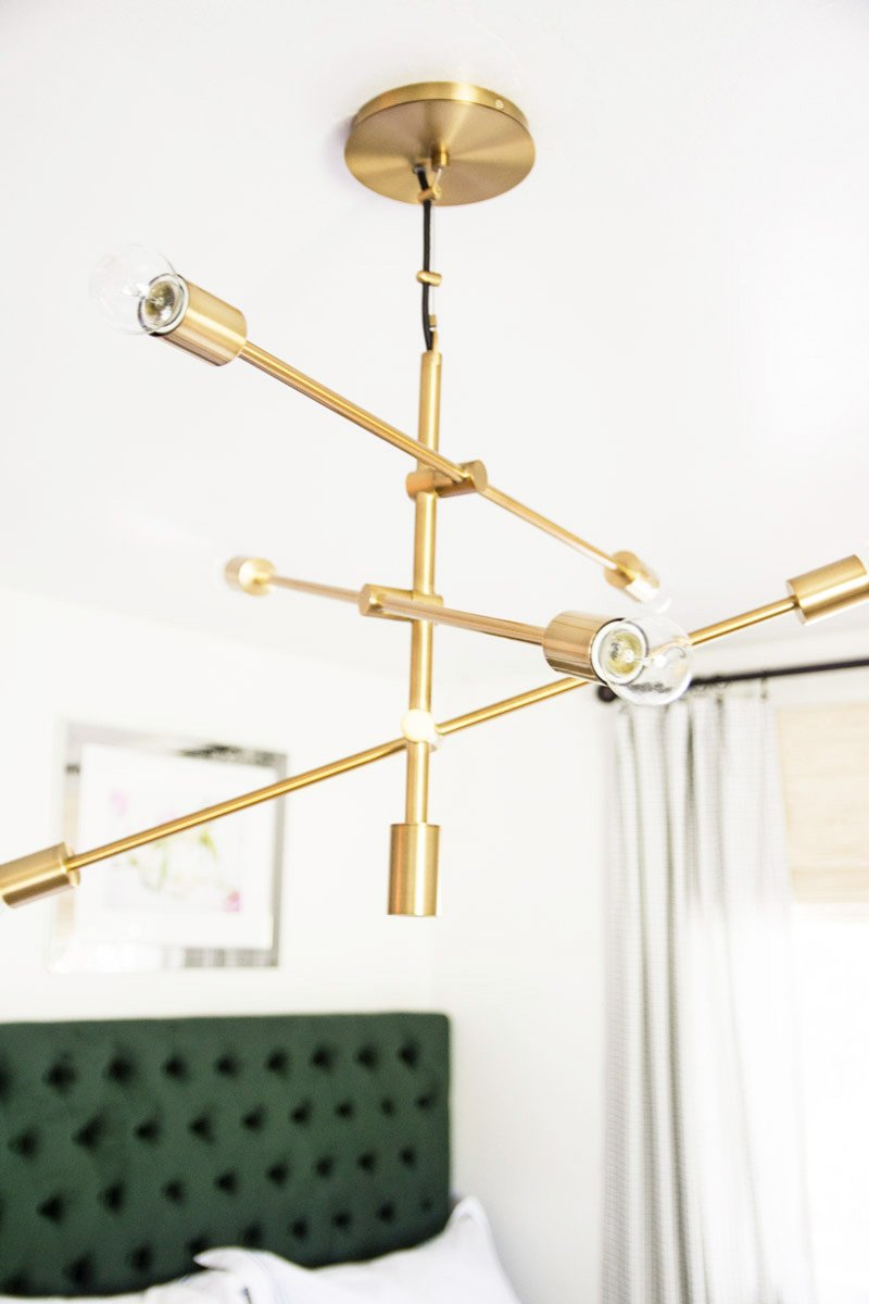 Brass mobile chandelier from west elm on Thou Swell @thouswellblog