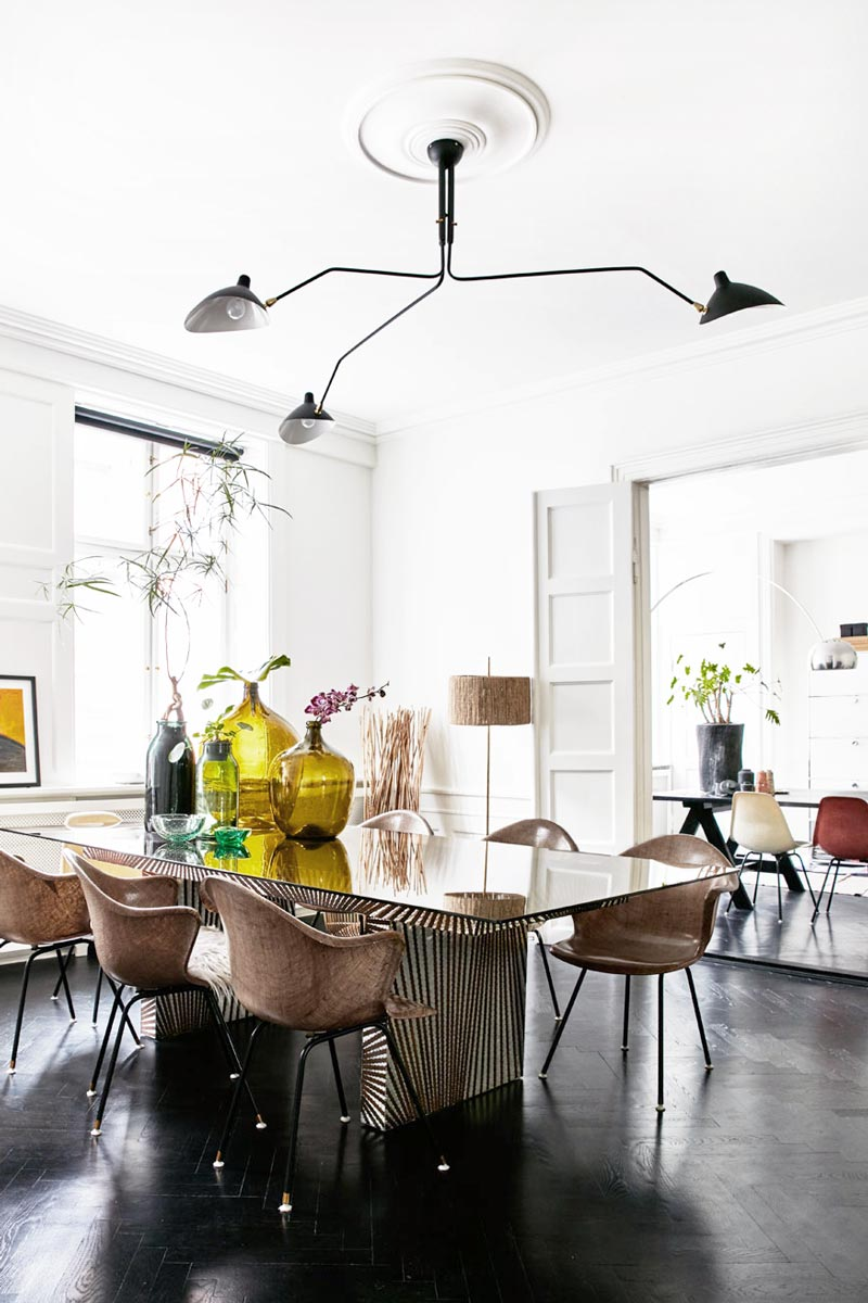 Eclectic dining room with modern serge mouille light fixture on thou eclectic dining room with modern serge mouille light fixture on thou swell thouswellblog arubaitofo Choice Image
