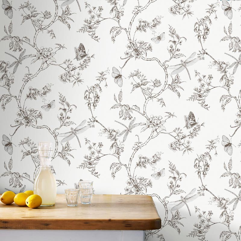 Black and white nature trail removable wallpaper by Graham & Brown on Thou Swell @thouswellblog