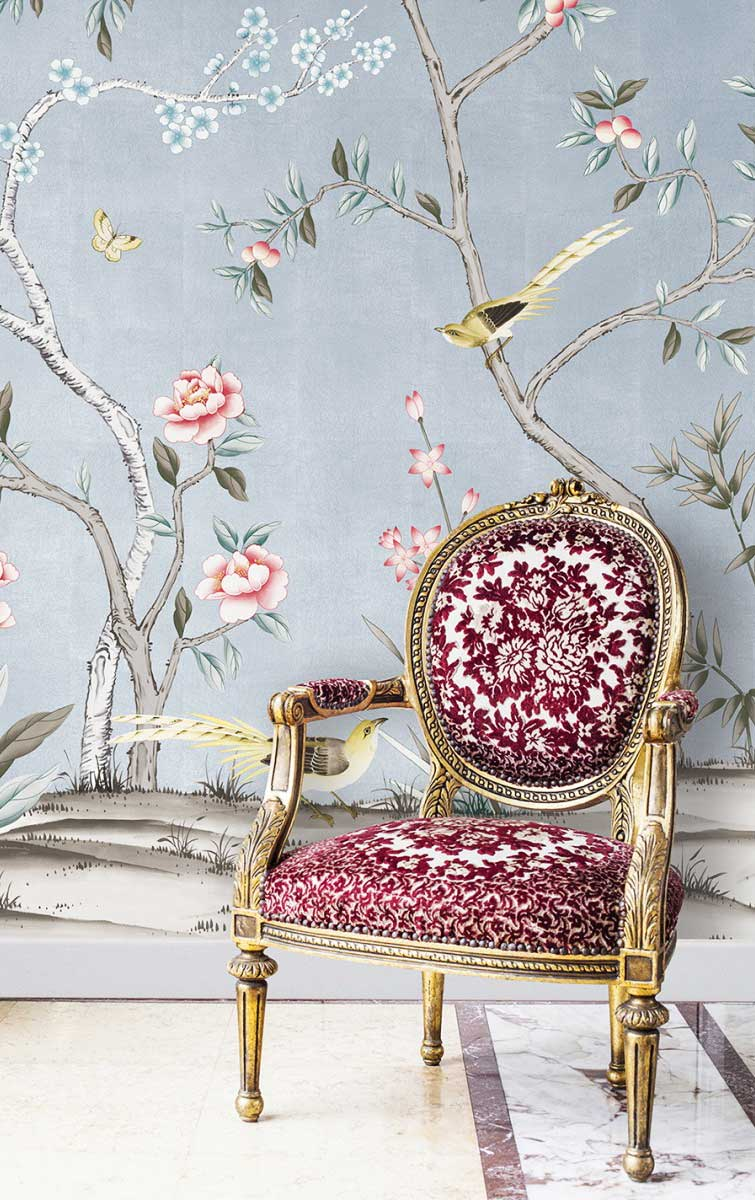 Blue Chinoiserie Removable Wallpaper On Thou Swell Thouswellblog