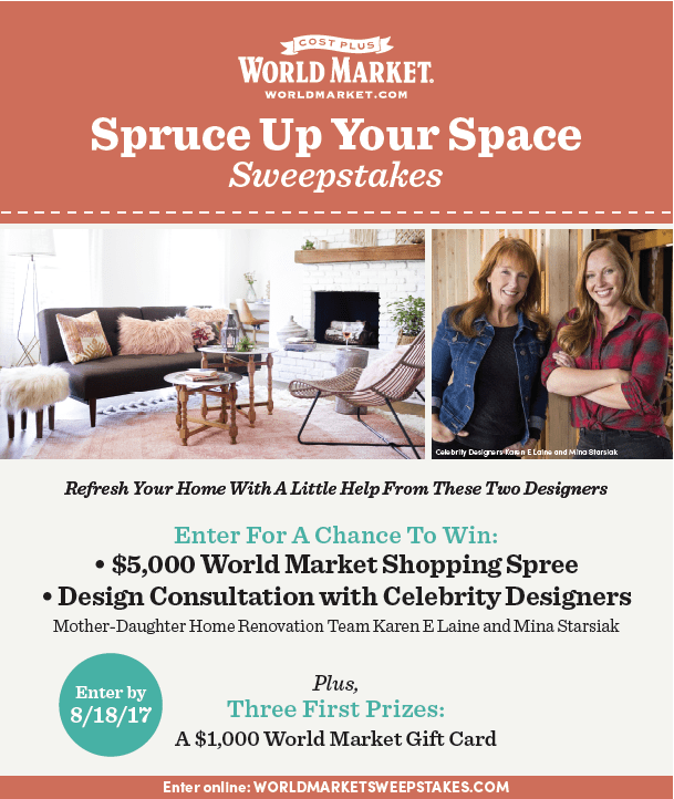 World Market Spruce Up Your Space Sweepstakes