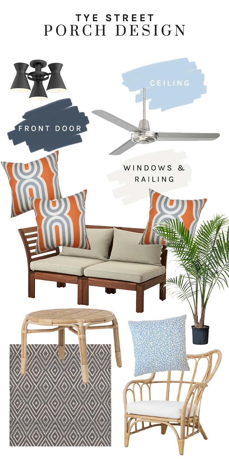 Tye Street porch design plans on Thou Swell @thouswellblog