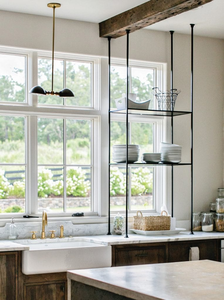 Belgian inspired modern farmhouse kitchen in Serenbe sustainable community on Thou Swell @thouswellblog