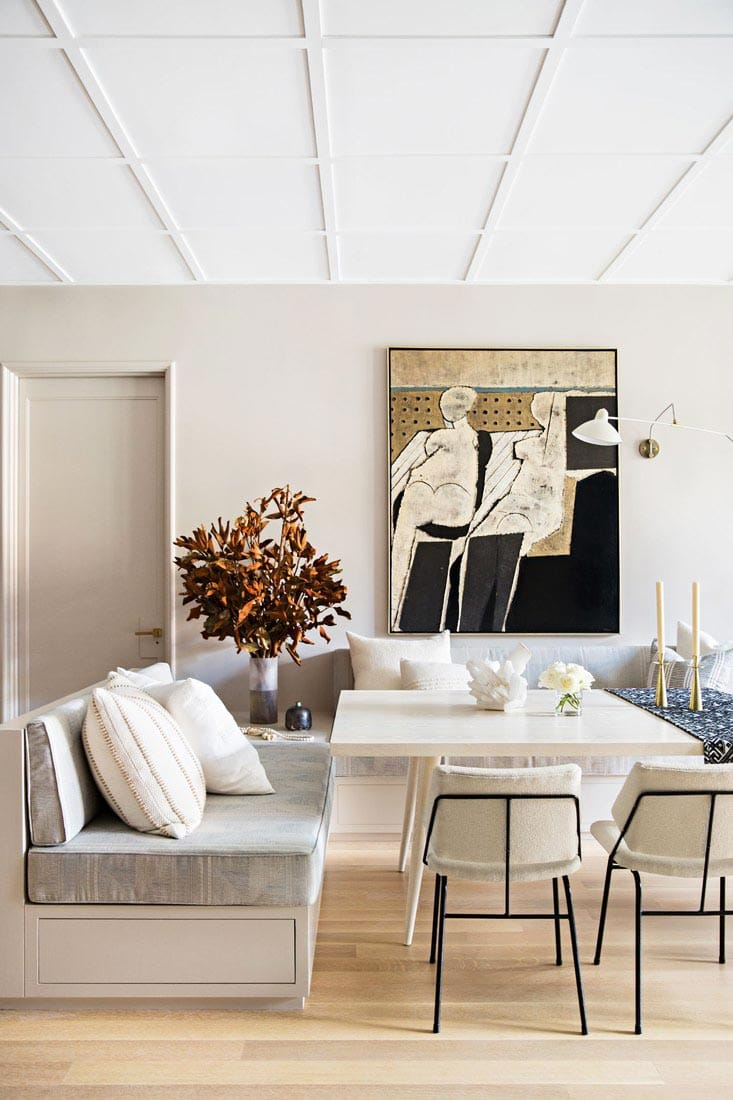 Modern dining banquette by Jeremiah Brent on Thou Swell @thouswellblog
