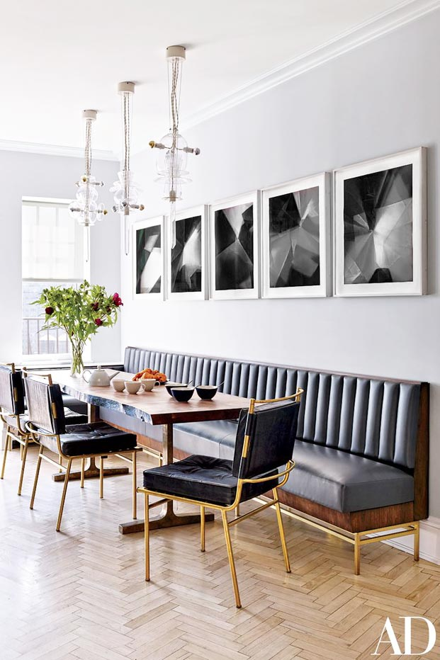 Superior Channel Tufted Dining Banquette In Glam Kitchen On Thou Swell @thouswellblog