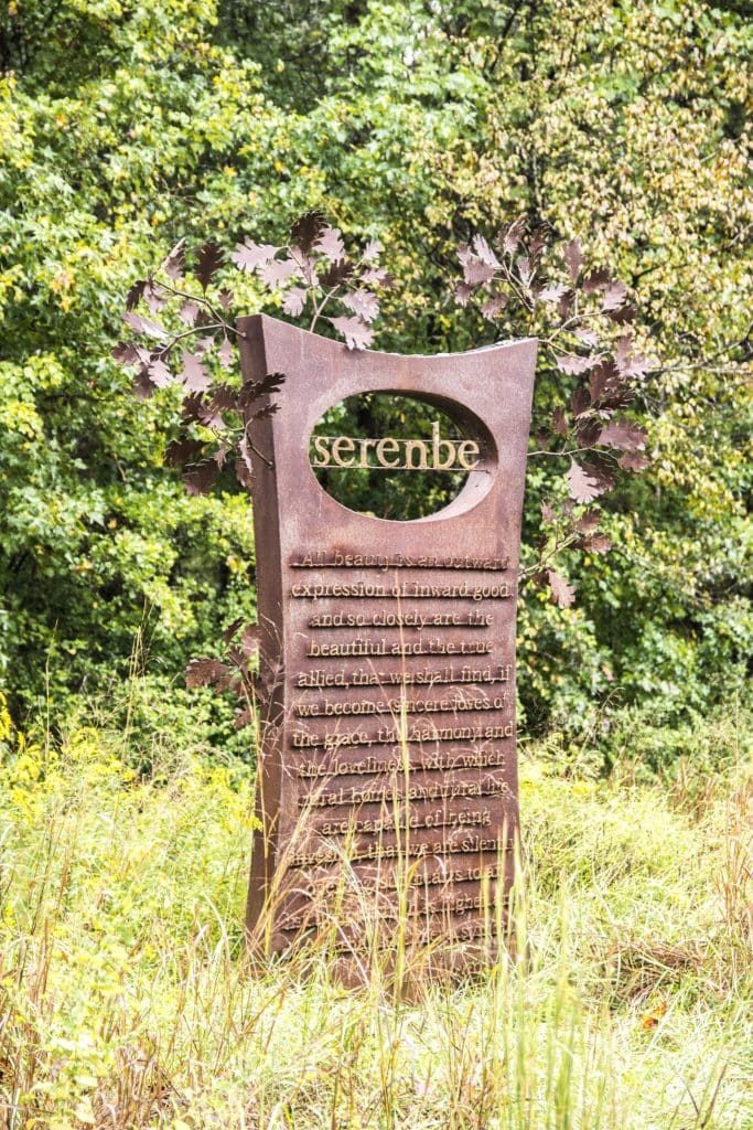 Metalwork sign for sustainable community Serenbe, Georgia on Thou Swell @thouswellblog