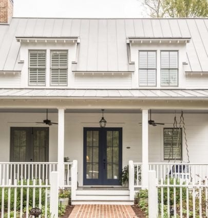 Modern cottage exterior in Serenbe, Georgia on Thou Swell @thouswellblog
