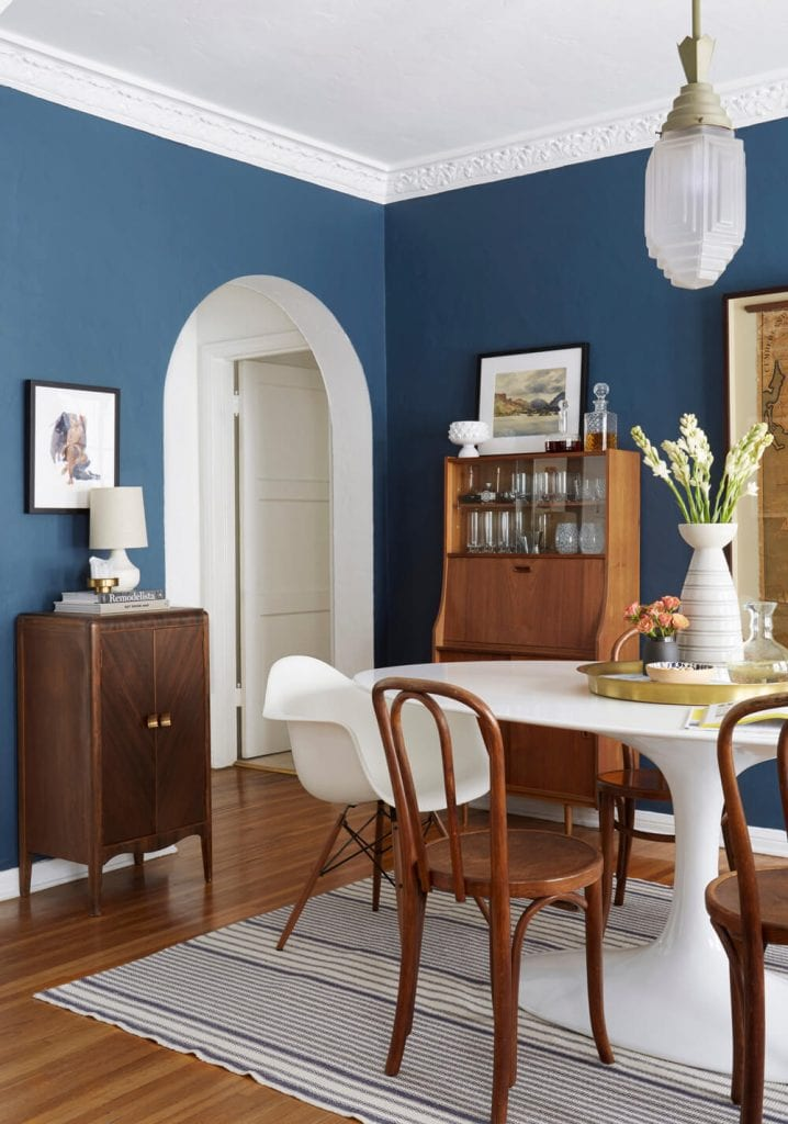 Blue Dining Room Walls On Thou Swell Thouswellblog
