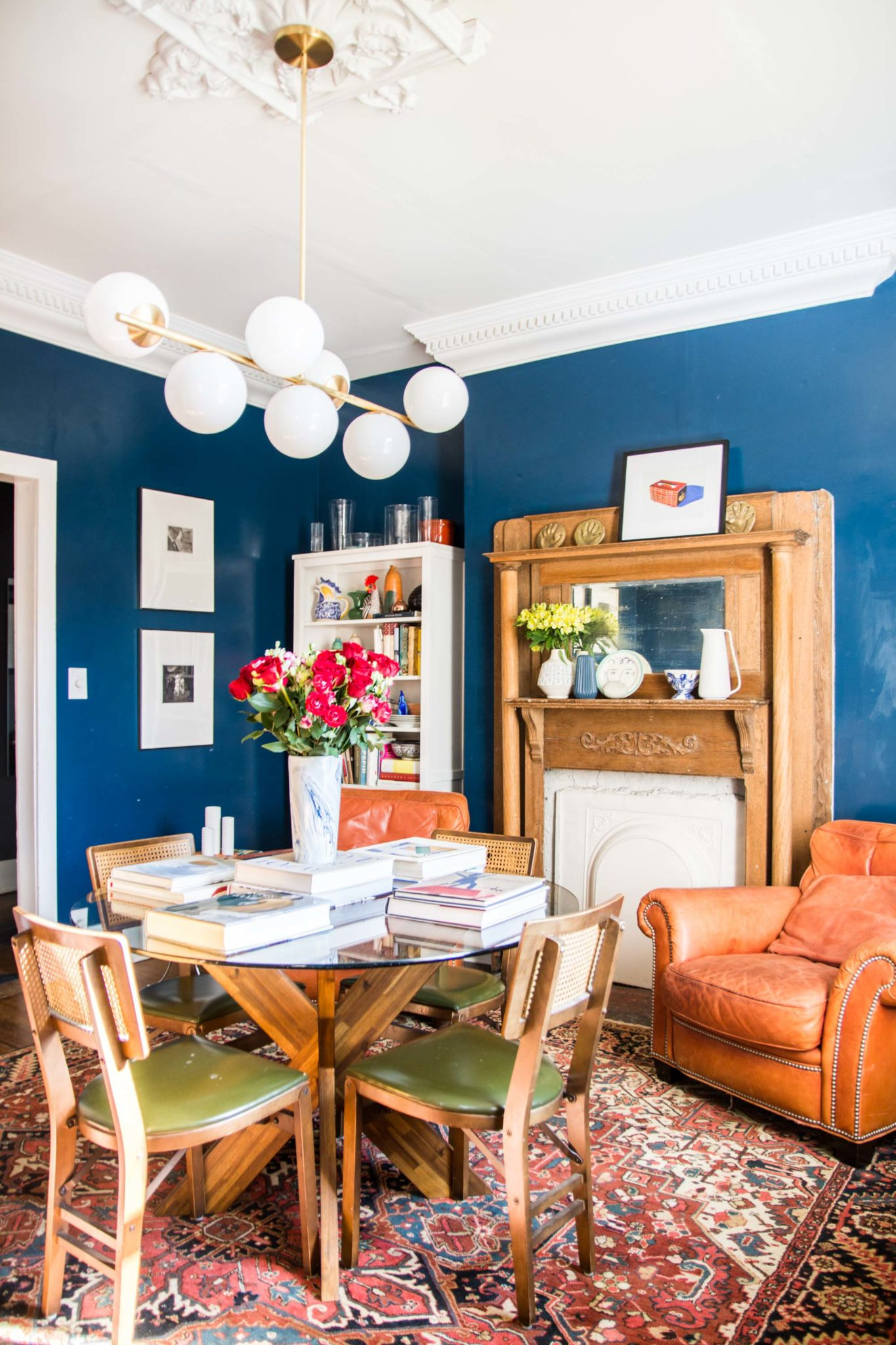 High-Gloss Blue Dining Room Reveal