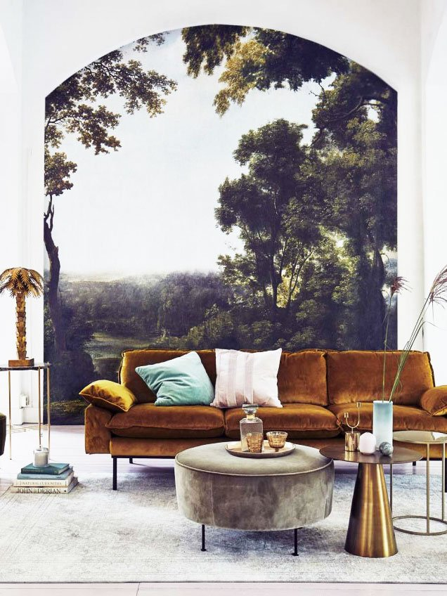 Scenic Mural In A Modern Living Room On Thou Swell Thouswellblog