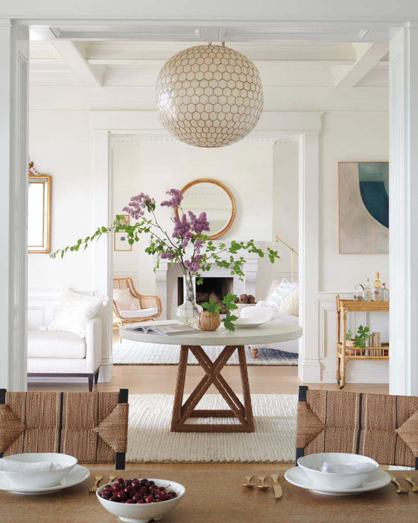 Beautiful Entry With Capiz Chandelier On Thou Swell Thouswellblog