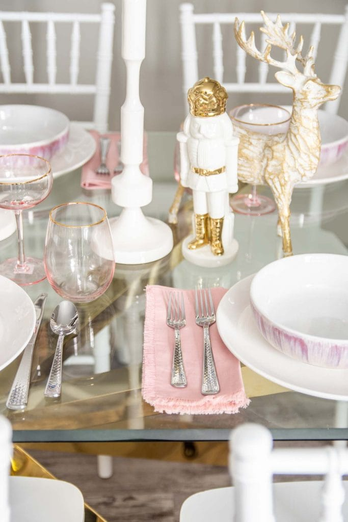 Blush Gold Holiday Table Setting Thou Swell