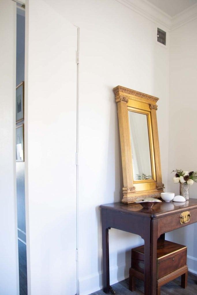 Why I chose high-gloss wall paint (Behr Bit of Sugar) on Thou Swell @thouswellblog