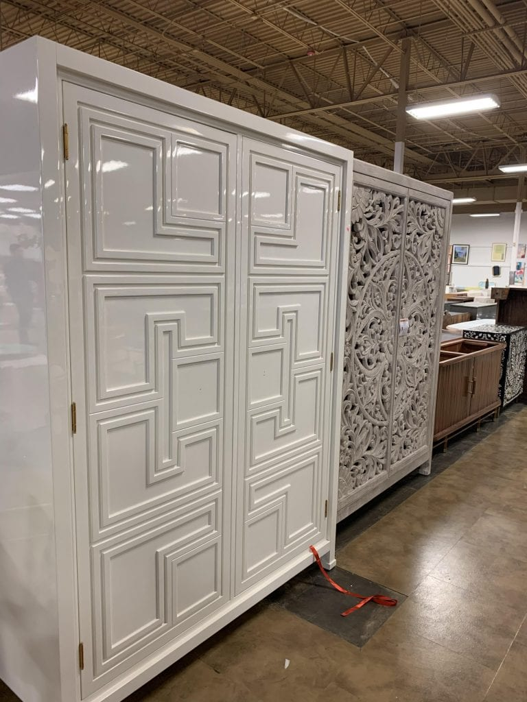 Anthropologie outlet in Augusta, GA white armoire on Thou Swell