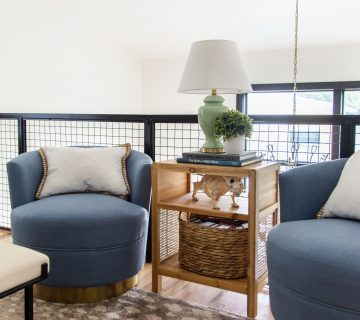 Media room design with At Home store, fall decor roundup, seasonal decorating tips, tv room ideas, loft design by Kevin O'Gara on Thou Swell #falldecor #decorideas #mediaroom #tvroom #loftdesign #athomestore #decorroundup #falldecorating #interiordesign