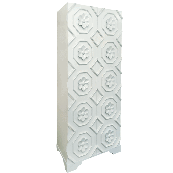 White flower armoire cabinet by Oly studio