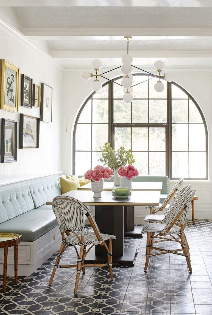 Breakfast room in Ansley Park, Atlanta home tour renovation by Melanie Turner and Yong Pak classical family home with modern Art-Deco influences on Thou Swell #hometour #homedesign #atlanta #atlantahomes #southernhome #traditionalhome #artdeco #homedecor #homedecorideas #interiordesign #interiordesigner #designerhome