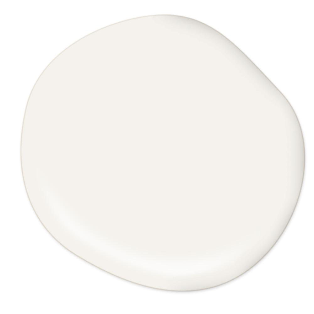 Behr Bit of Sugar, bright warm white paint color for walls on Thou Swell
